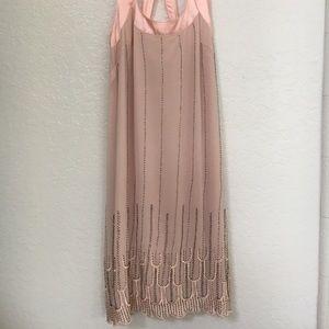 Blush pink flapper style dress